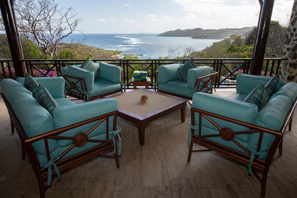 St. Vincent & the Grenadines: February 26, 2020. Day 6 of the SVG Shoot on Canouan Island - photographing Bellini's Restaurant, La Piazza, The Church, Fitness Centre, Tennis Courts, Kid's Club, and villas - Villabu, Villa Ritz, Beach House, Big Blue Ocean, Little Blue Ocean, Silver Turtle and Turtle Creek and Shell Beach Restaurant